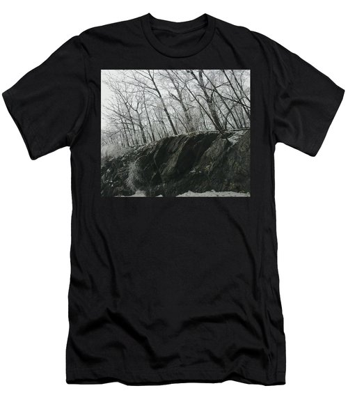 Men's T-Shirt (Slim Fit) featuring the photograph Out Of The Rocks by Ellen Levinson