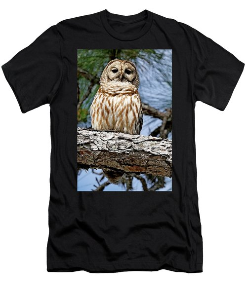 Owl In A Tree Men's T-Shirt (Athletic Fit)