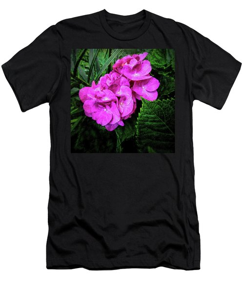Painted Hydrangea Men's T-Shirt (Athletic Fit)