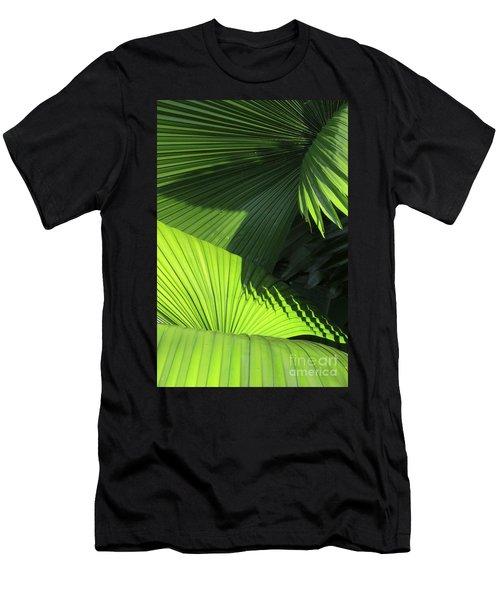 Palm Patterns Men's T-Shirt (Athletic Fit)