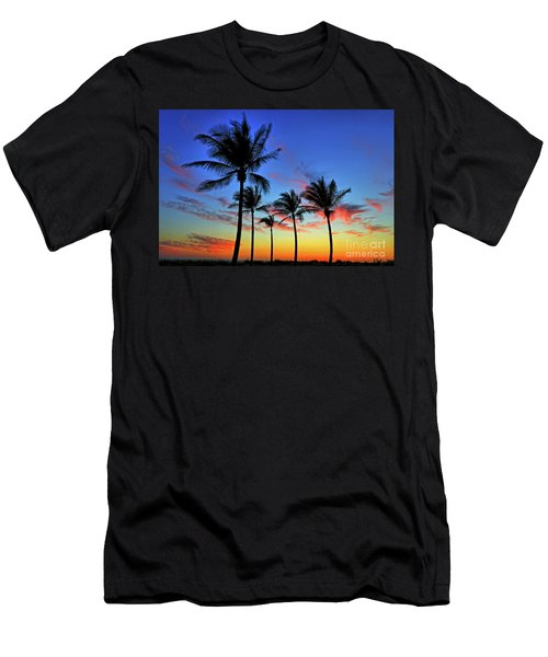 Men's T-Shirt (Slim Fit) featuring the photograph Palm Tree Skies by Scott Mahon