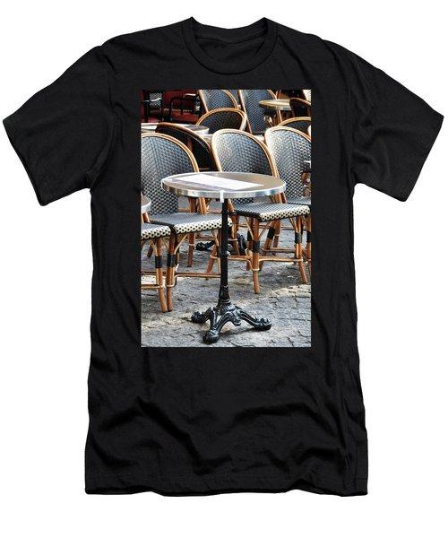 Parisian Cafe Terrace Men's T-Shirt (Athletic Fit)