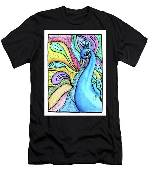 Peacock Men's T-Shirt (Athletic Fit)