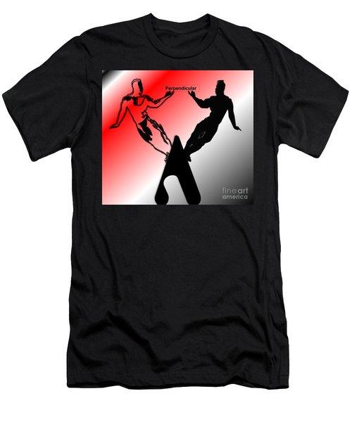 Perpendicular Men's T-Shirt (Slim Fit) by Belinda Threeths