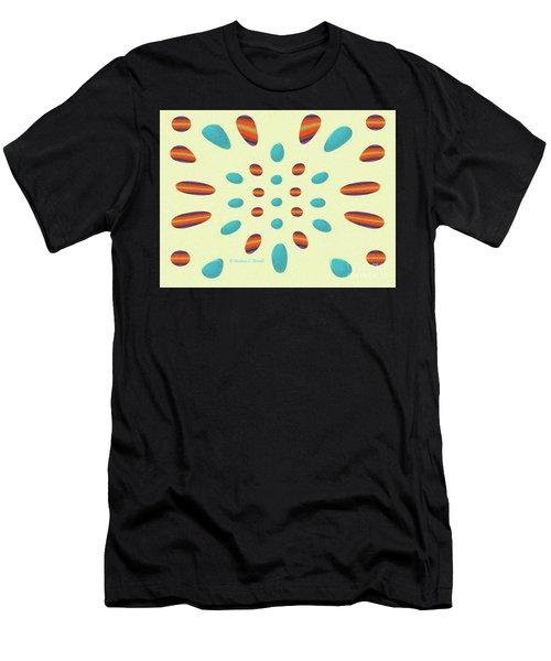 Petals N Dots P7 Men's T-Shirt (Athletic Fit)