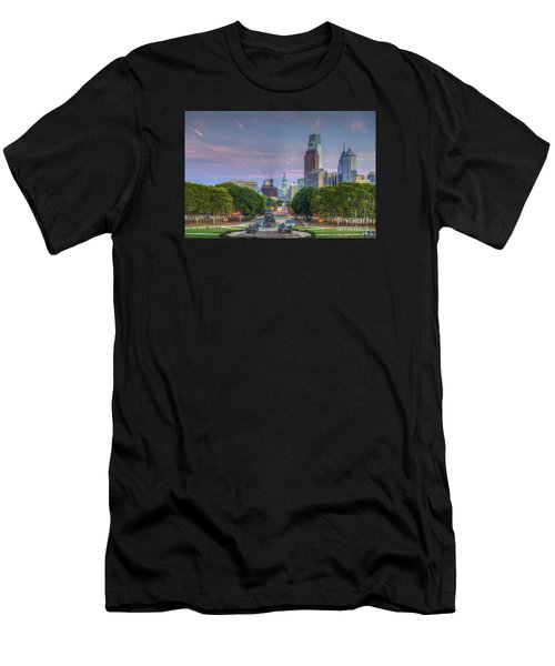 Philadelphia Cityscape Men's T-Shirt (Athletic Fit)