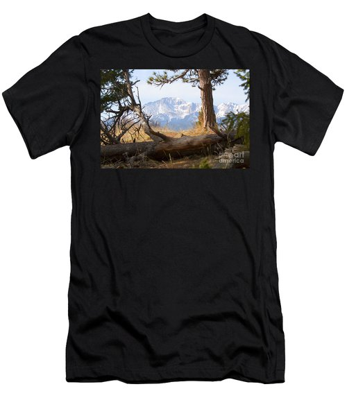 Pikes Peak And Trail To Bald Mountain Men's T-Shirt (Athletic Fit)