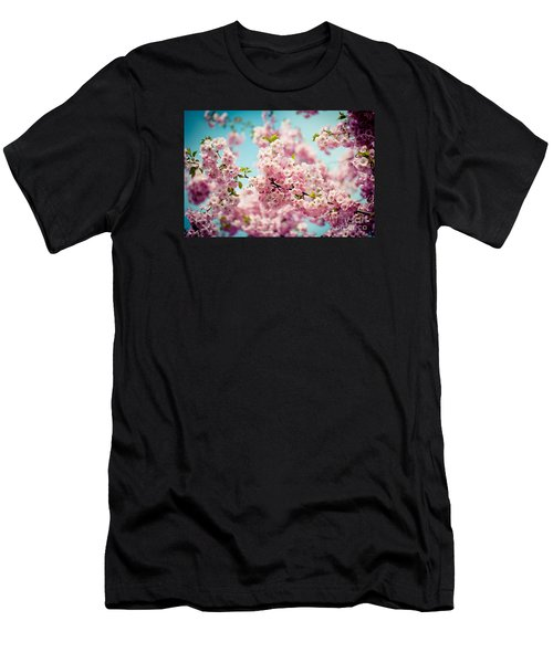 Pink Cherry Blossoms Sakura Men's T-Shirt (Athletic Fit)