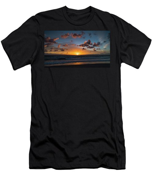Pink Cloud Sunrise Delray Beach Florida Men's T-Shirt (Athletic Fit)