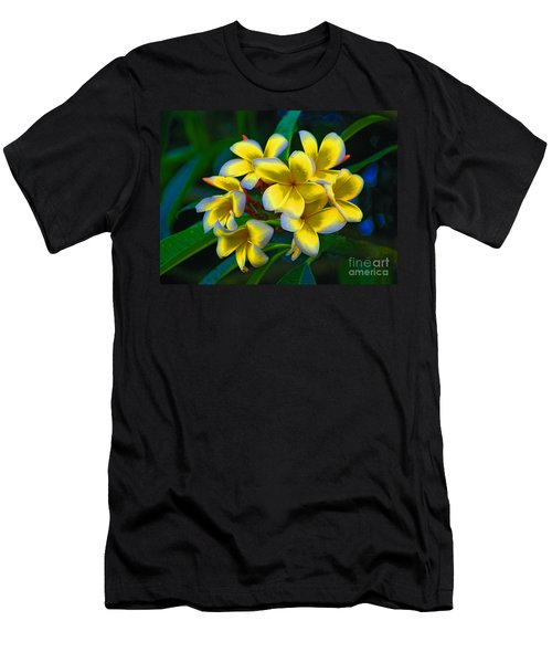 Men's T-Shirt (Slim Fit) featuring the photograph 1- Plumeria Perfection by Joseph Keane