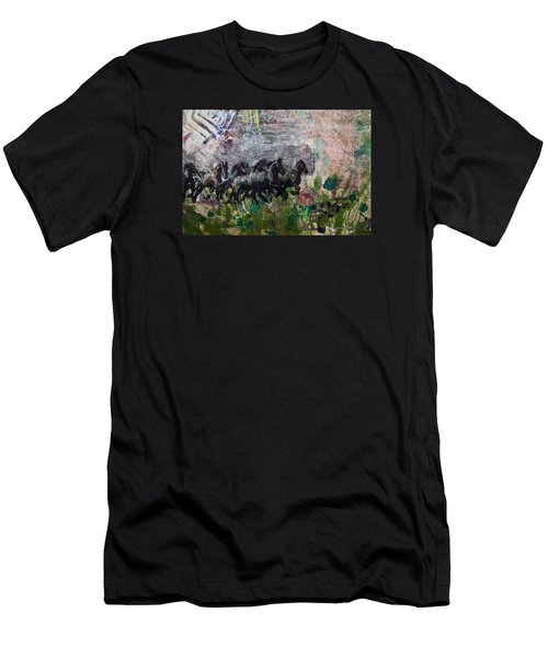 Ponies Men's T-Shirt (Slim Fit) by Ron Richard Baviello