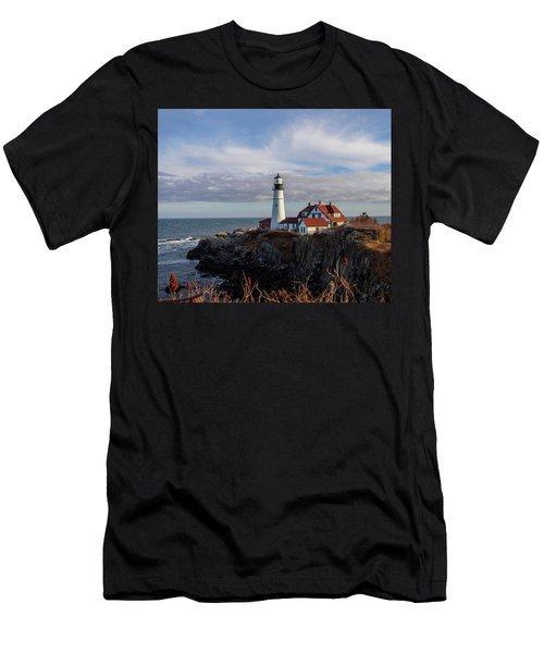 Portland Head Light Men's T-Shirt (Slim Fit) by Trace Kittrell