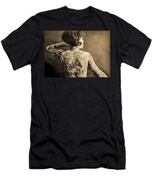 Portrait Of A Tattooed Woman Men's T-Shirt (Athletic Fit)