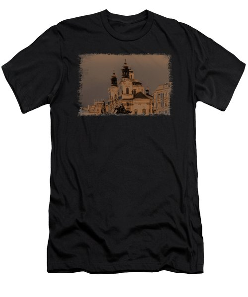 Old Memories Of Prague Men's T-Shirt (Athletic Fit)