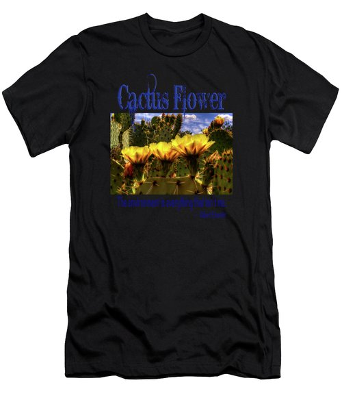 Prickly Pear Cactus Flowers Men's T-Shirt (Athletic Fit)