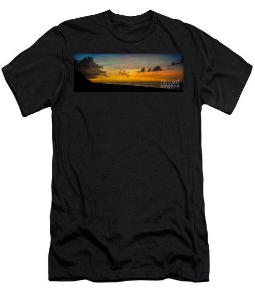 Puka Beach Sunset  Men's T-Shirt (Athletic Fit)