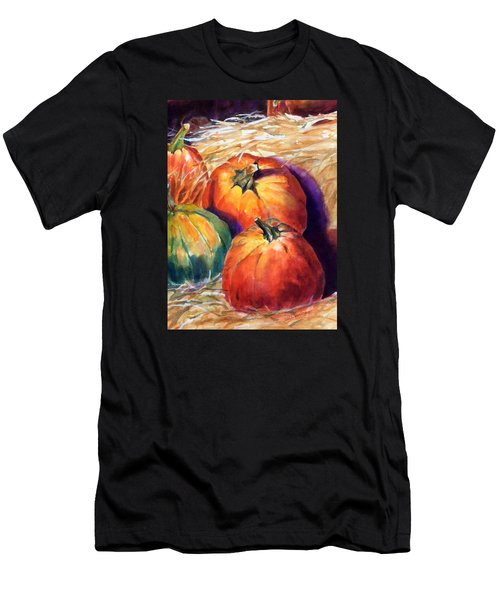Pumpkins In Barn Men's T-Shirt (Athletic Fit)