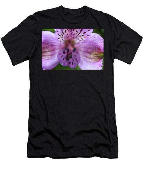 Purple Flower Men's T-Shirt (Athletic Fit)