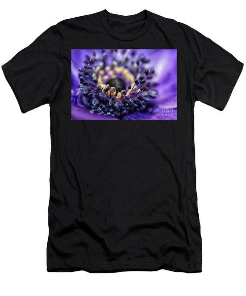 Purple Heart Of A Flower Men's T-Shirt (Athletic Fit)