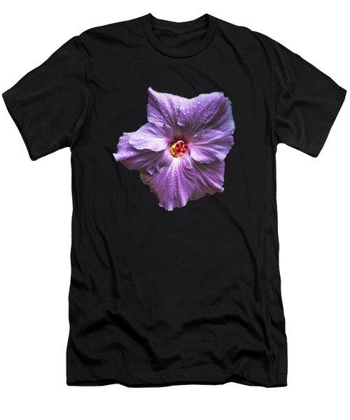 Purple Hibiscus Men's T-Shirt (Athletic Fit)