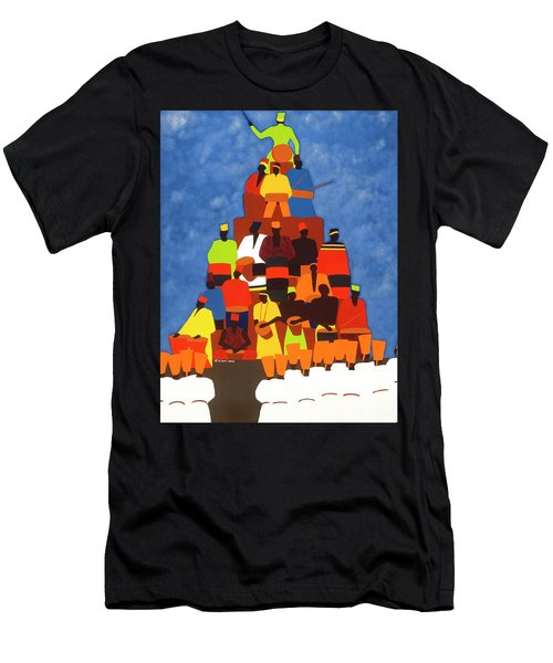 Pyramid Of African Drummers Men's T-Shirt (Athletic Fit)
