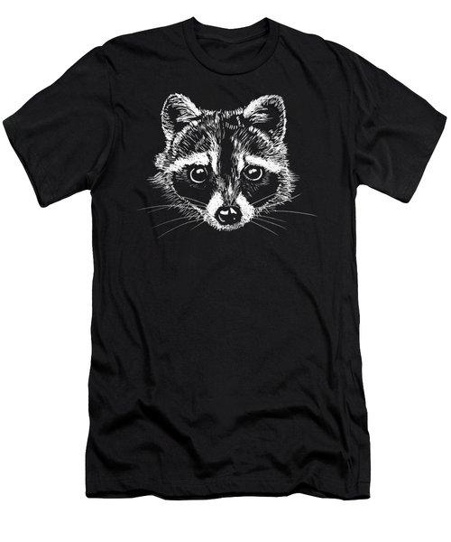 Raccoon Men's T-Shirt (Slim Fit) by Masha Batkova