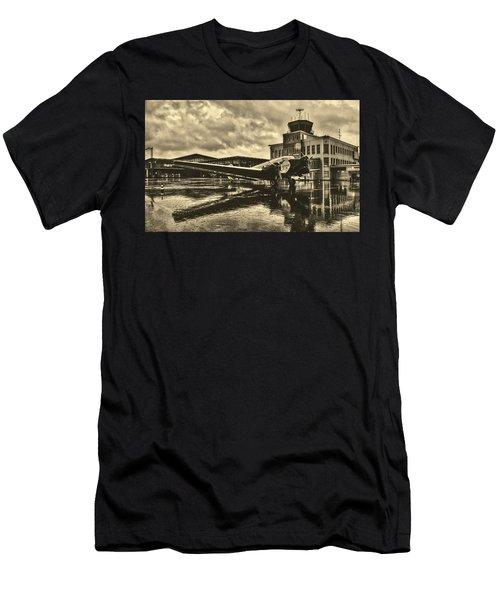 Rain At The Airport - Paderborn, Germany Men's T-Shirt (Athletic Fit)