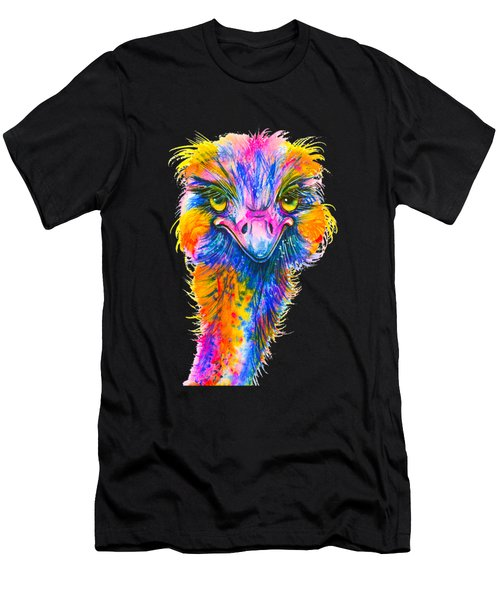 Rainbow Ostrich  Men's T-Shirt (Athletic Fit)