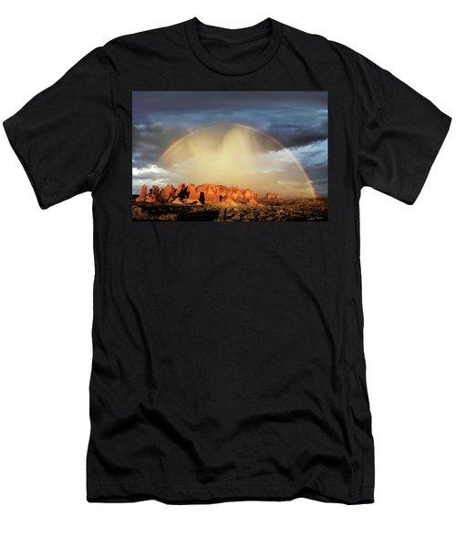 Rainbow Over Garden Of Eden Men's T-Shirt (Athletic Fit)