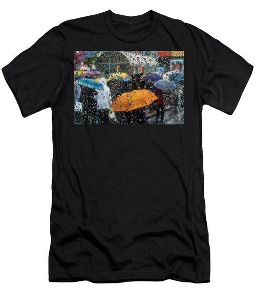 Raining Men's T-Shirt (Slim Fit) by Vladimir Kholostykh