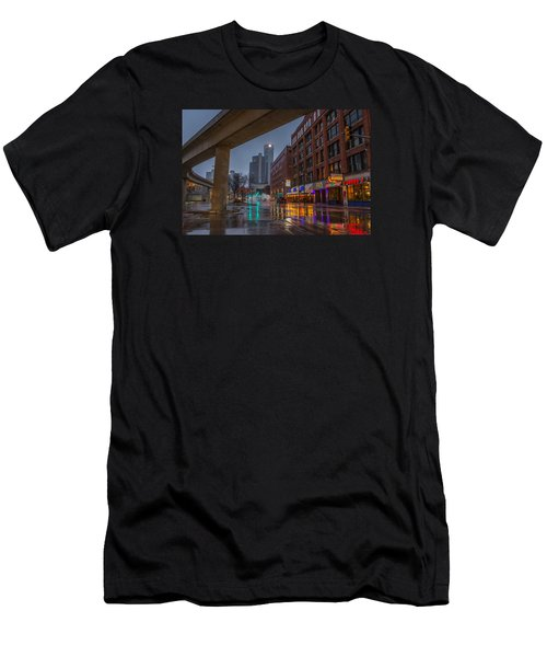 Rainy Night In Detroit  Men's T-Shirt (Athletic Fit)