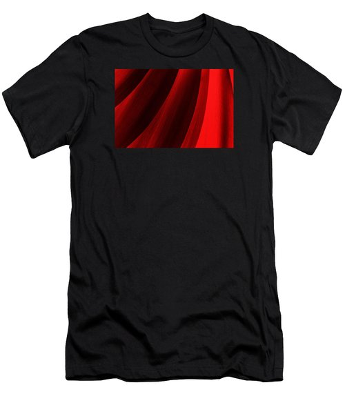 Red Chrysanthemum Dawn Rising Men's T-Shirt (Athletic Fit)