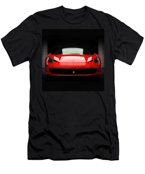 Red Ferrari 458 Men's T-Shirt (Athletic Fit)