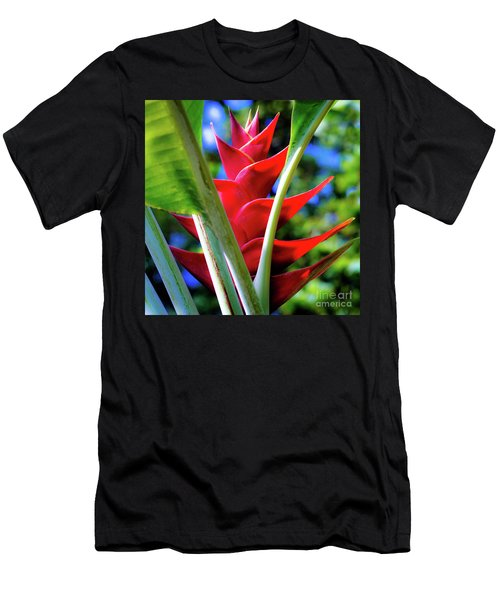 Red Heliconia Hawaii Men's T-Shirt (Athletic Fit)