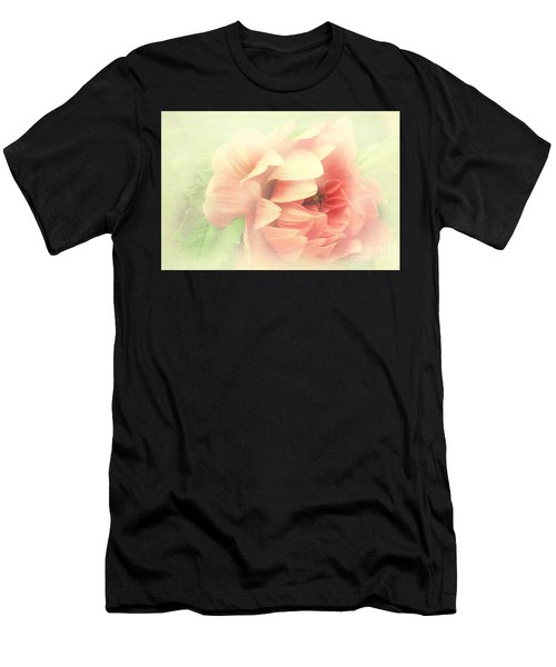 Red Peony Men's T-Shirt (Athletic Fit)
