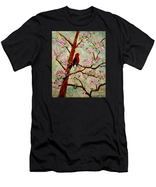 Men's T-Shirt (Athletic Fit) featuring the painting Red Tangler by Denise Tomasura