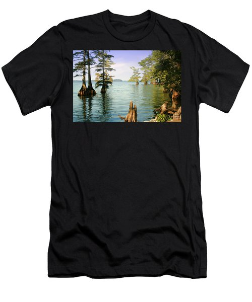 Men's T-Shirt (Slim Fit) featuring the photograph Reelfoot Lake by Bonnie Willis