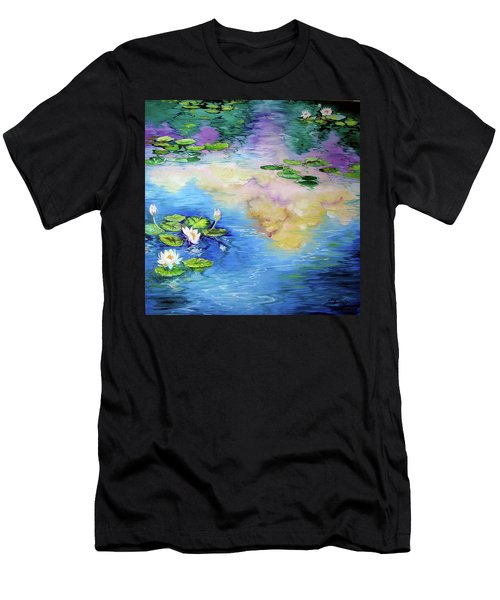 Reflections On A Waterlily Pond Men's T-Shirt (Athletic Fit)