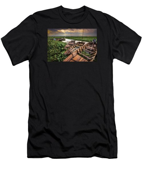 Men's T-Shirt (Slim Fit) featuring the photograph Rest Of Boat by Arik S Mintorogo