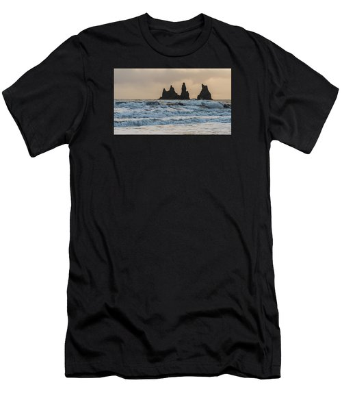 Men's T-Shirt (Athletic Fit) featuring the photograph Reynisdrangar by James Billings