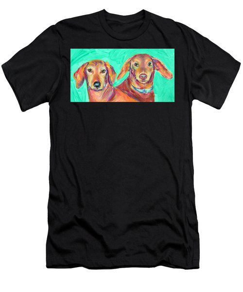 Rocky And Hershey Men's T-Shirt (Athletic Fit)