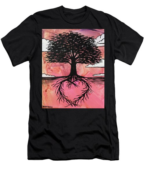 Men's T-Shirt (Athletic Fit) featuring the painting Rooted In Love by Nathan Rhoads