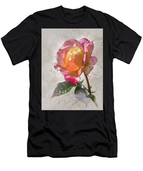 Rosa, 'glowing Peace' Men's T-Shirt (Athletic Fit)