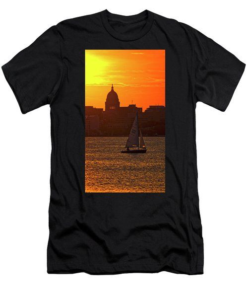 Sailing - Lake Monona - Madison - Wisconsin Men's T-Shirt (Athletic Fit)