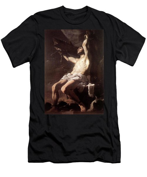 Saint Sebastian By Mattia Preti Men's T-Shirt (Athletic Fit)