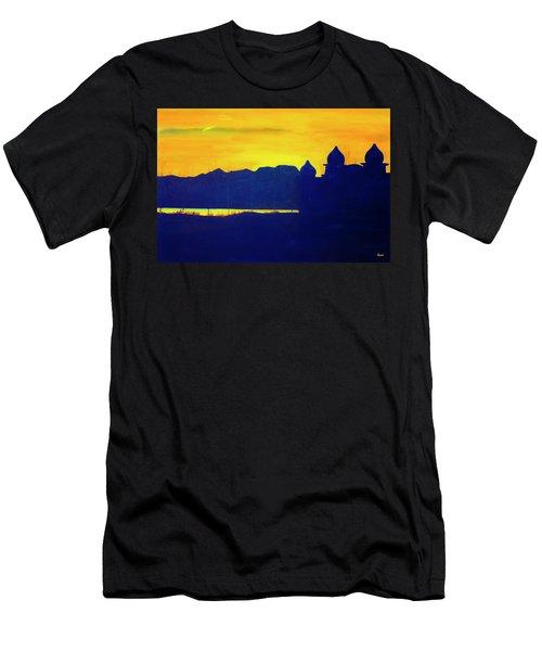 Saltair Sunset Men's T-Shirt (Athletic Fit)