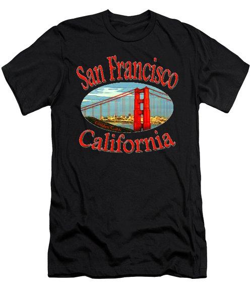 San Francisco California Design Men's T-Shirt (Athletic Fit)