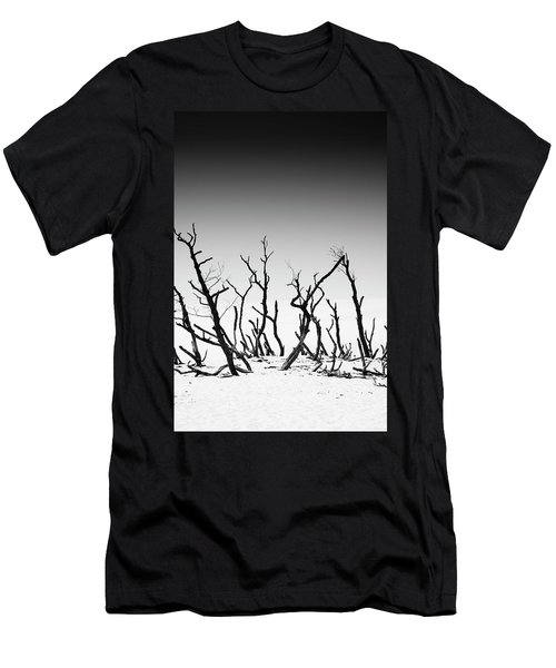 Sand Dune With Dead Trees Men's T-Shirt (Slim Fit) by Chevy Fleet