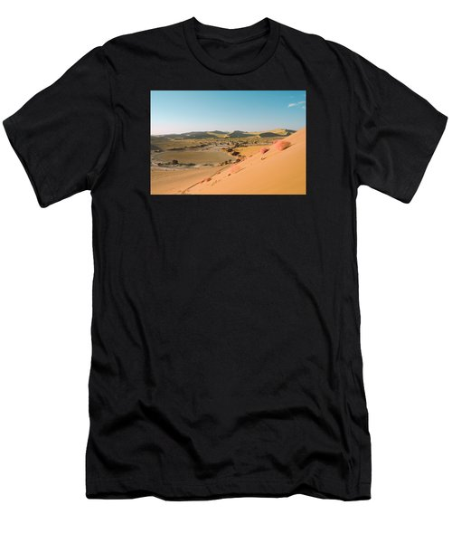 Men's T-Shirt (Athletic Fit) featuring the pyrography Sand Dunes by Artistic Panda