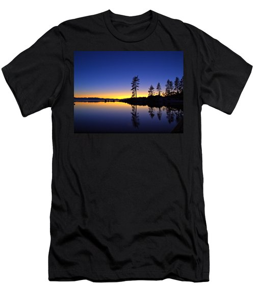 Sand Harbor Sunset Men's T-Shirt (Athletic Fit)